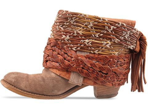 Vintage-shoes-LUXURY-JONES-Taupe-and-Brown-Belt-Boot-Size-7.5-(Taupe-Brown)-010601